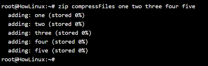 Compressing Files Using Zip