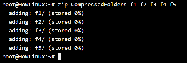 Compressing Multiple Folders