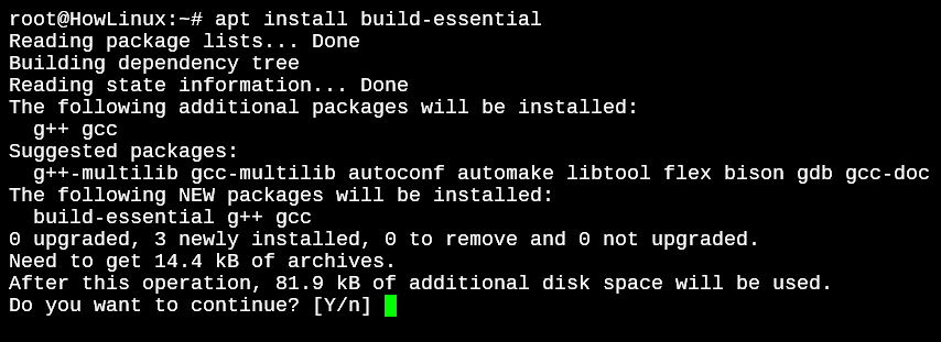 Installing Build Essential Package