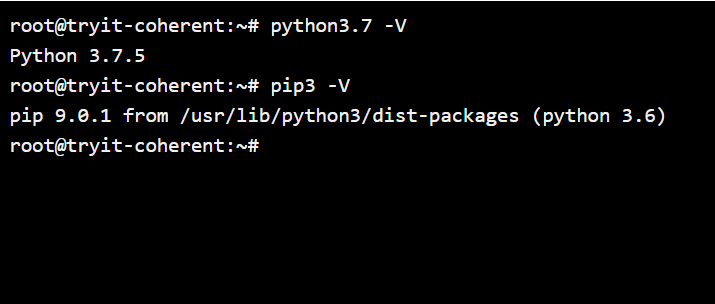 checking python version for installing flask