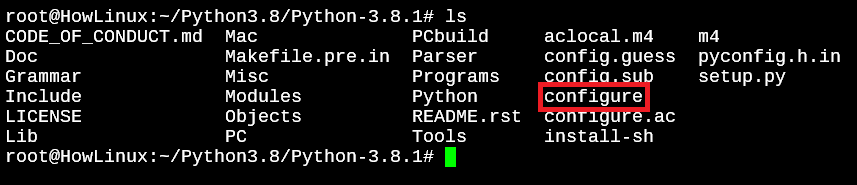 Configure File In Python 3.8.1