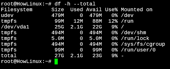 Df Total File Usage