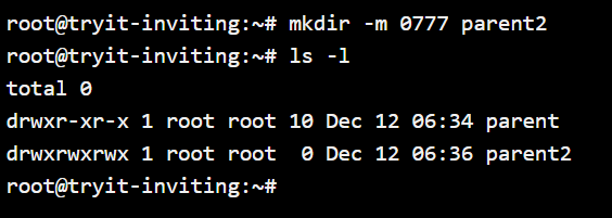 Mkdir Chmod Permissions 1