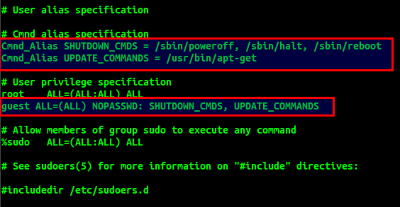 Sudoers File Limited Command Access For Sudo Users 1