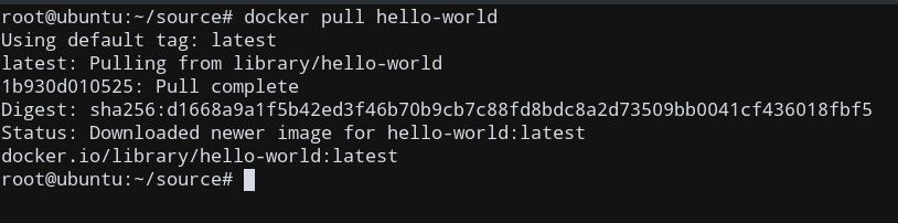Docker Ubuntu Pull Image