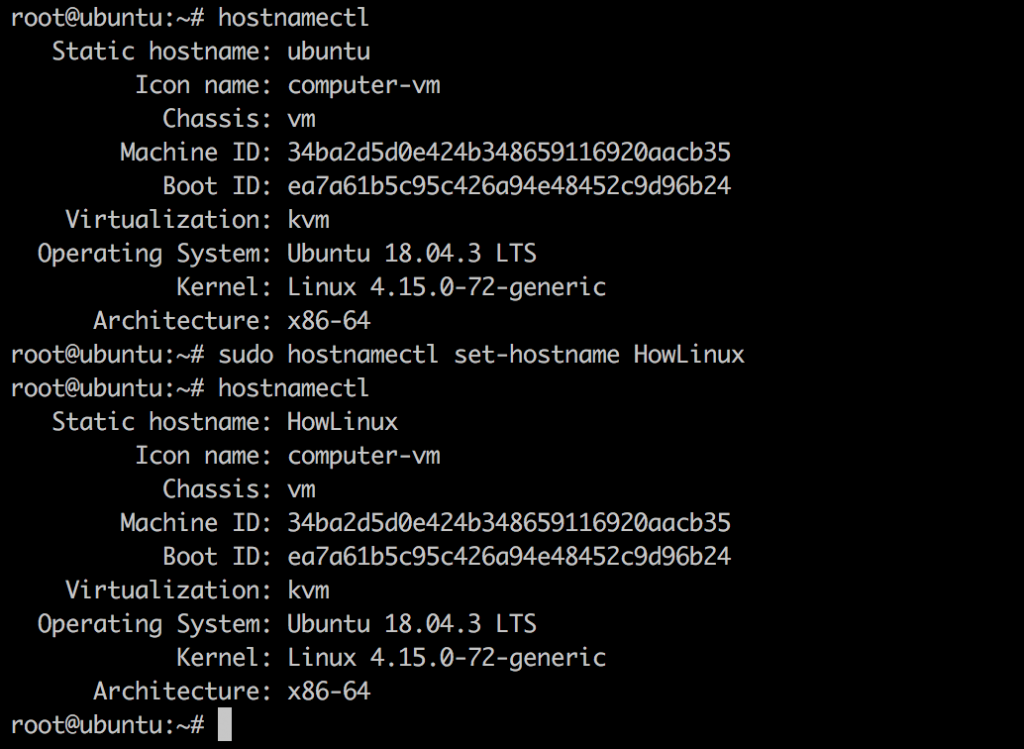 Ubuntu Set Hostname
