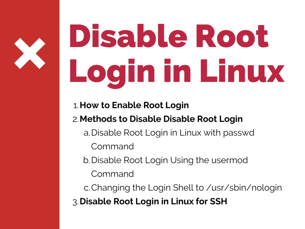 Disable Root Login In Linux
