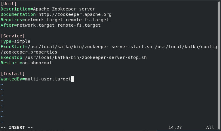 Add The Content In Zookeepur Step4