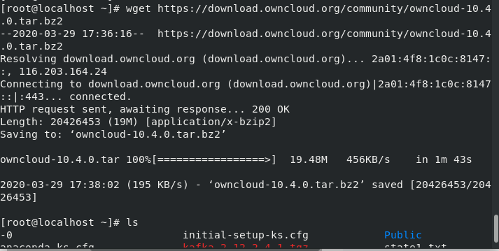 Download Ownclous Through Wget Step7