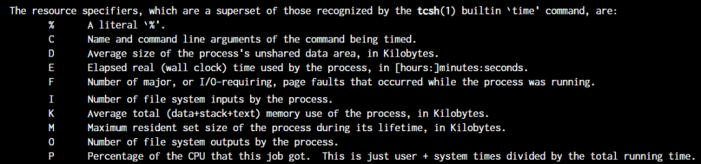 Man Time Formatting Screenshot