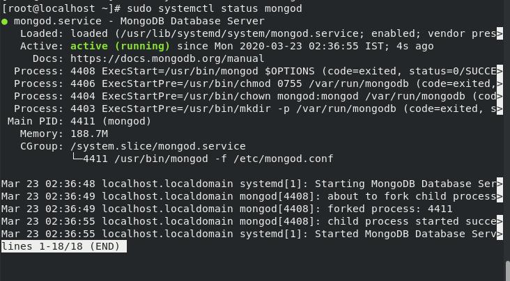 Mongod Status Afterrestart Step 10