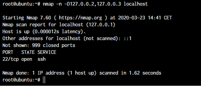 Nmap Decoy Ips