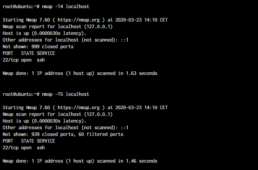 Nmap Timing Scan