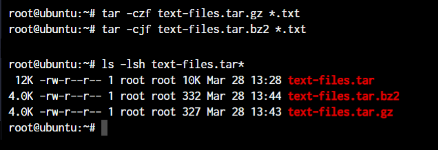 Tar File Size Differences