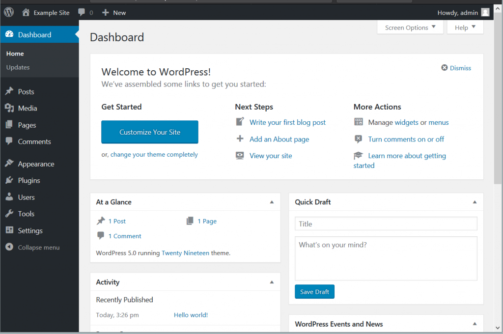Wordpress Interface 6