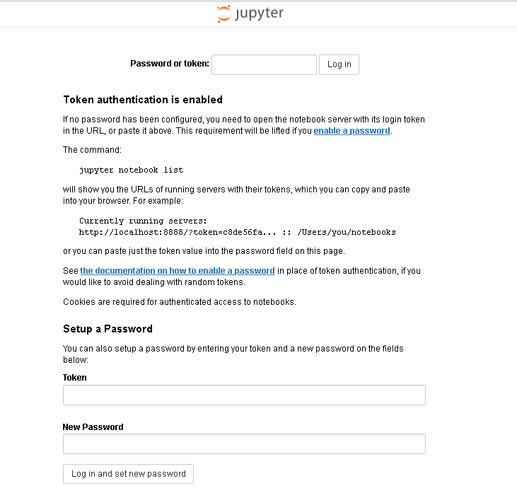 Jupyter Interface 1