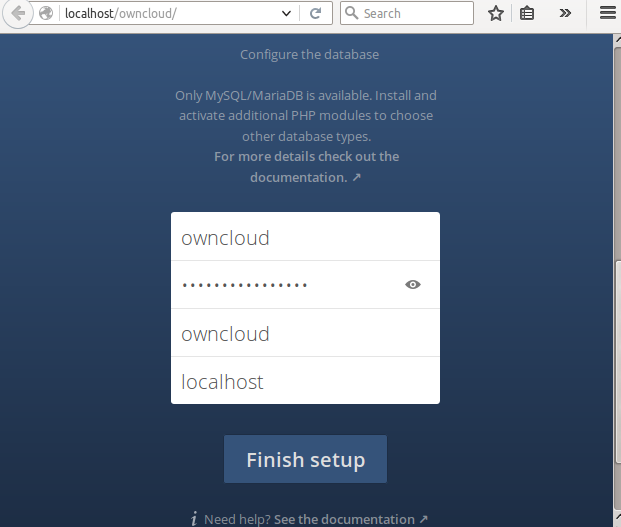 OwnCloud Interface 2