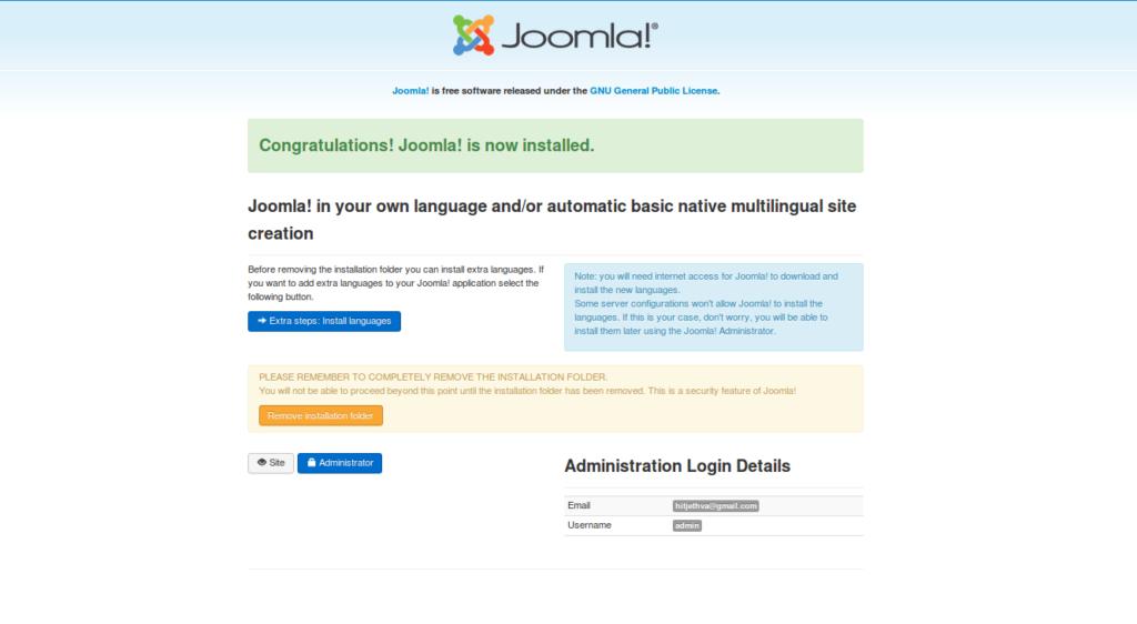 Joomla Interface 4