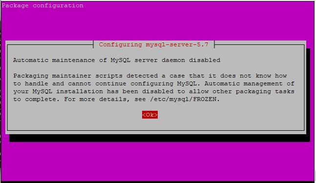 Mysql Configuration Step1