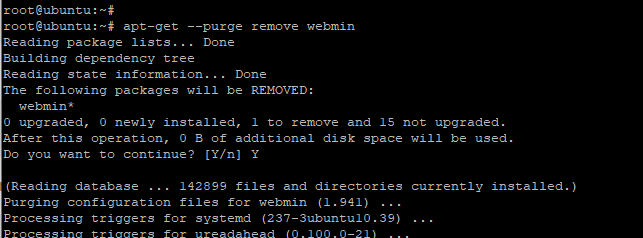 Remove Webmin