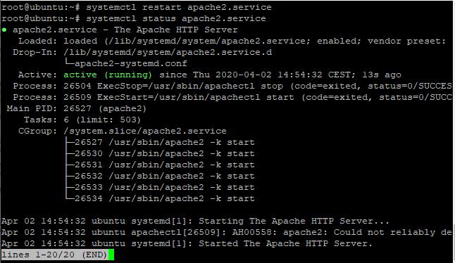 Restart Services Of Apache Step4