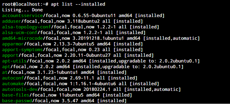 Apt List Installed