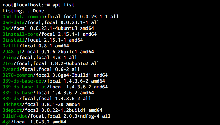 Apt List apt command to list installed packages on ubuntu