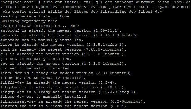Install Lib Rvm
