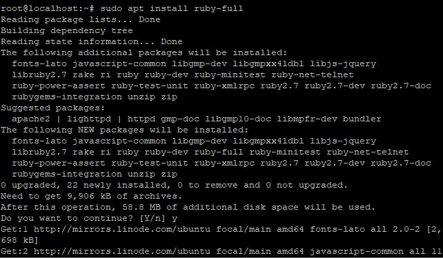 Install Ruby Step