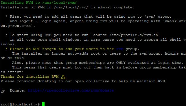 Install Rvm