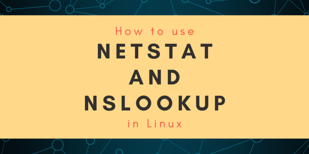 Netstat And Nslookup