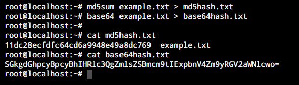 Save Md5 Base64 Hash