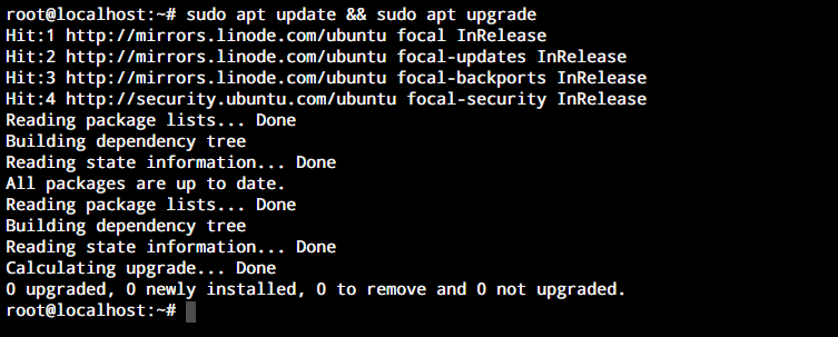 Sudo Apt Upgrade Update