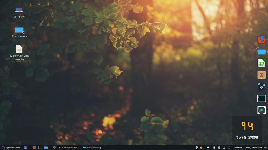 Cinnamon Desktop Mint