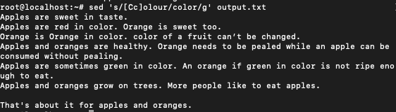Colour To Color Using Reg Ex