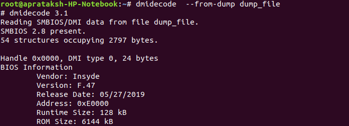 Dmidecode From Dump