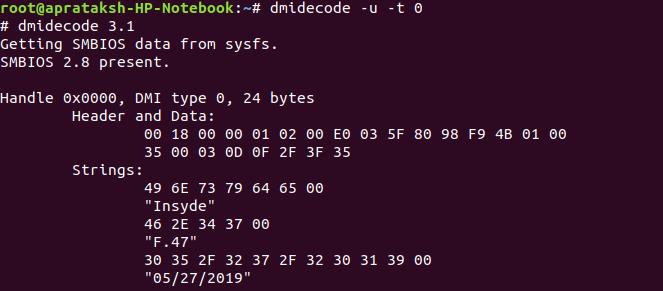 Dmidecode Hex Dump