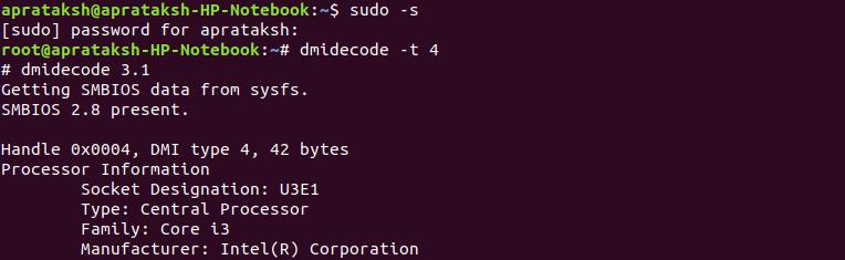 Dmidecode Type Example