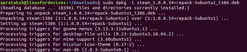 Dpkg Install Filename