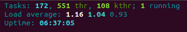 Htop command Task Stats