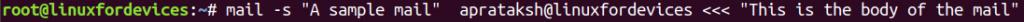 Mail Syntax Arro