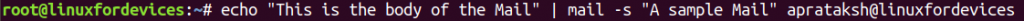 Mail Syntax Echo