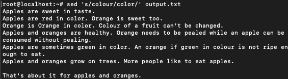 replacing colour with color