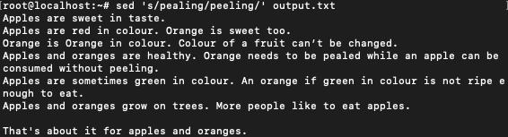 Pealing to peeling