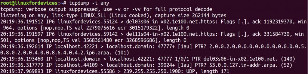Tcpdump Any Interface