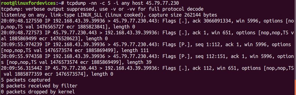 Tcpdump Host Filter