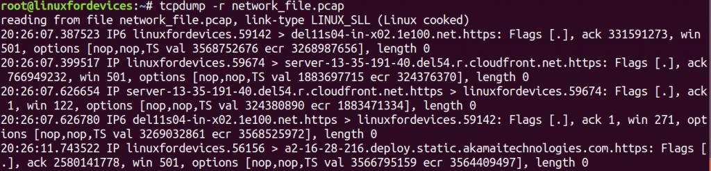 Tcpdump Read File