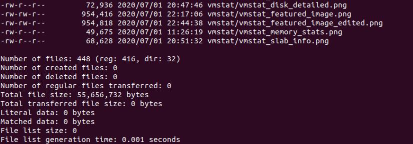 Count Files Rsync Command