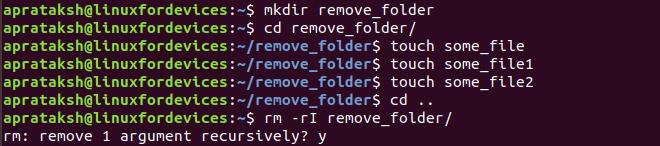 Remove Directory Interactive I