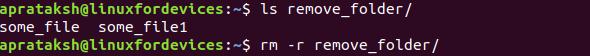 Remove Directory Non Empty